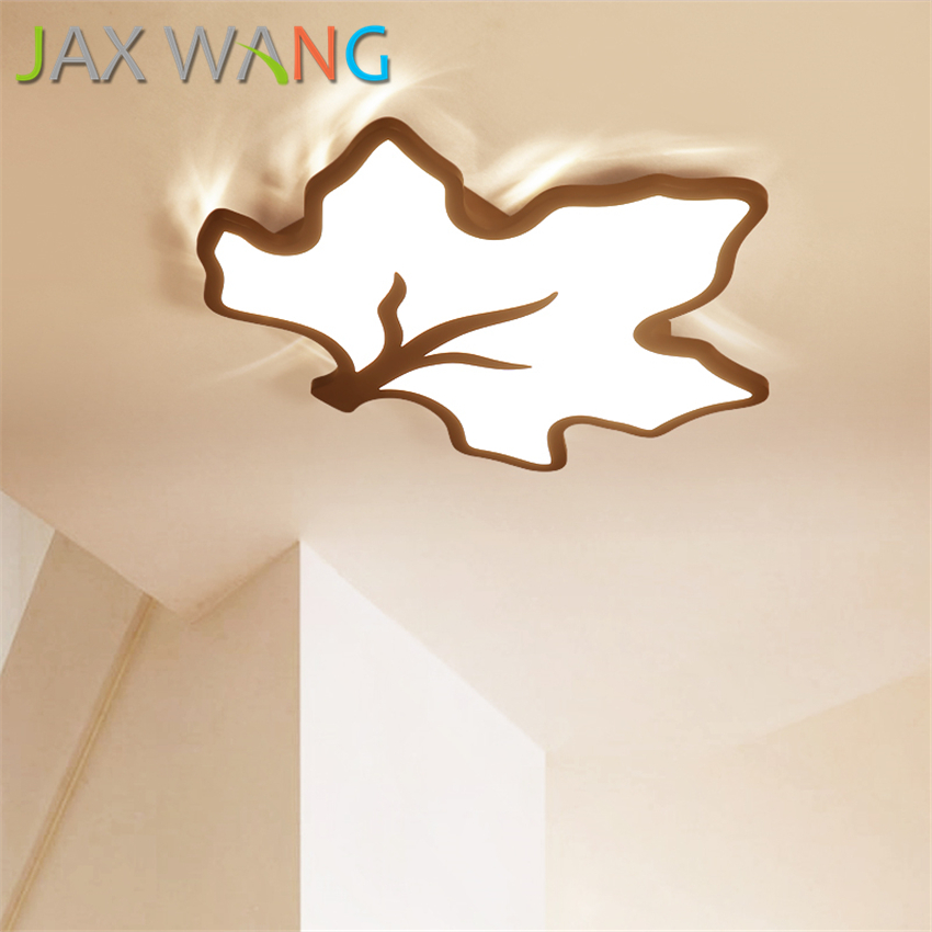 Enthusiastic Led Ceiling Lamp Maple Leaf Shape Can Remote Control Light Bedroom Warm Romantic Simple Lighting About Modern Living Room Lamps Attractive And Durable Ceiling Lights