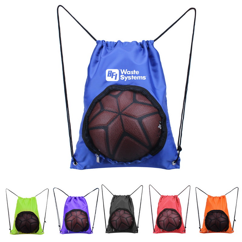 Custom Simple Basketball Holder Bag Sling Strap With Brand Printed