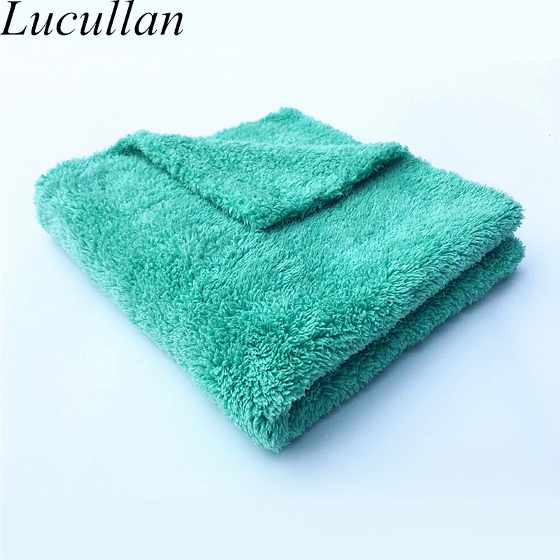 Ultra Thick-450GSM Edgeless Microfiber Cloth 16X16 No Edge Premium Detailing Towel For Polishing,Buffing,Finishes,Car Wash
