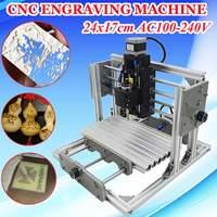 DIY Mini 3 Axis CNC Engraving Milling Machine Assembly Kit USB Desktop Metal Engraver PCB Milling