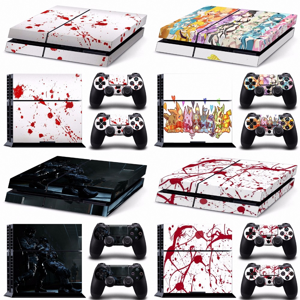 Marble spongebob call of duty black red anime wrap decal cover for ps4 vinyl sticker for ps4 console and controller