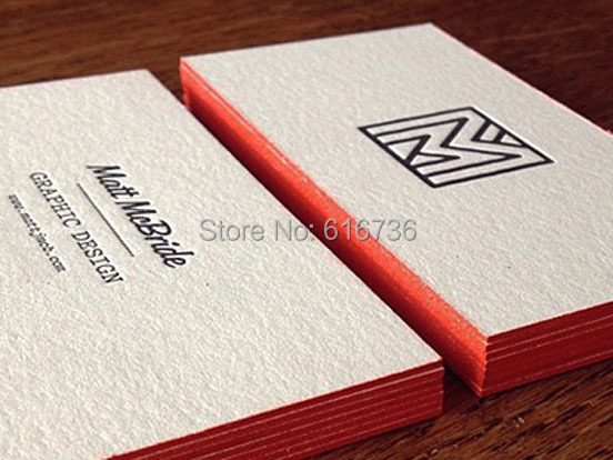 Letterpress business cards sale image collections card design free shipping hot sell updated art paper letterpress color edge free shipping hot sell updated art reheart Images
