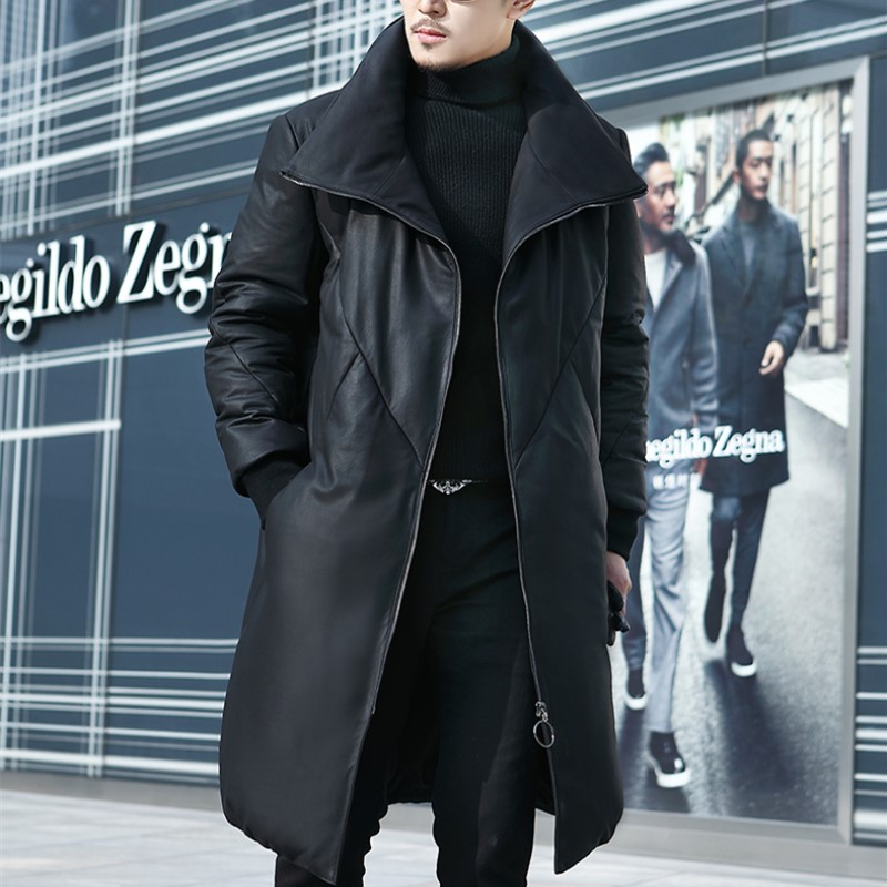 d4bdf783b8 US $888.0 |M 5XL Winter New Fashinale Genuine Leather Down Jacket Men's  High Quality Sheepskin Leather Down Coats-in Genuine Leather Coats from  Men's ...