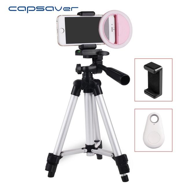 Capsaver PF36II LED Selfie Ring Light Phone External Enhancing Fill Light  Flash Tripod Phone Holder Bluetooth