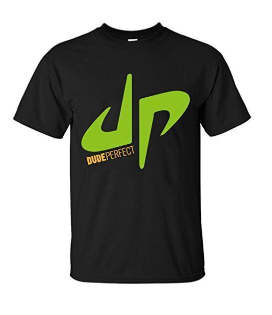Для мужчин Топ you tube Чувак Идеальный DP снимки трюк логотип Футболка черный