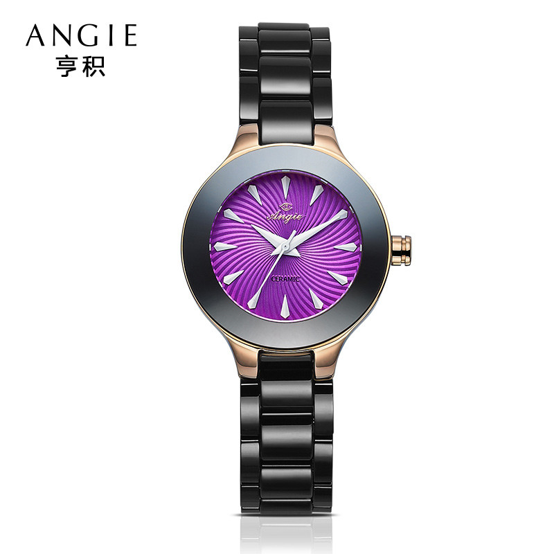 ФОТО Brand Angie 2016 Ladies Imitation Ceramic Watch Luxury Gold Bracelet Watches With  Strap Women Dress Watch Birthday Gift B22