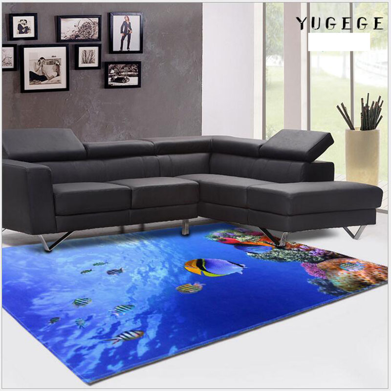 Large 3D Soft Creative Printing Crystal Carpet For Home Supplies Rug Anti Skid Living Room