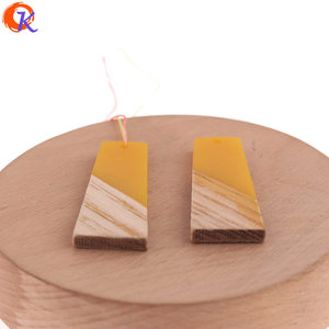 Image 2 - Cordial Design 30Pcs 19*49MM Jewelry Accessories/Hand Made/DIY Making/Trapezoid Shape/Natural Wood With Resin/Earring Findings