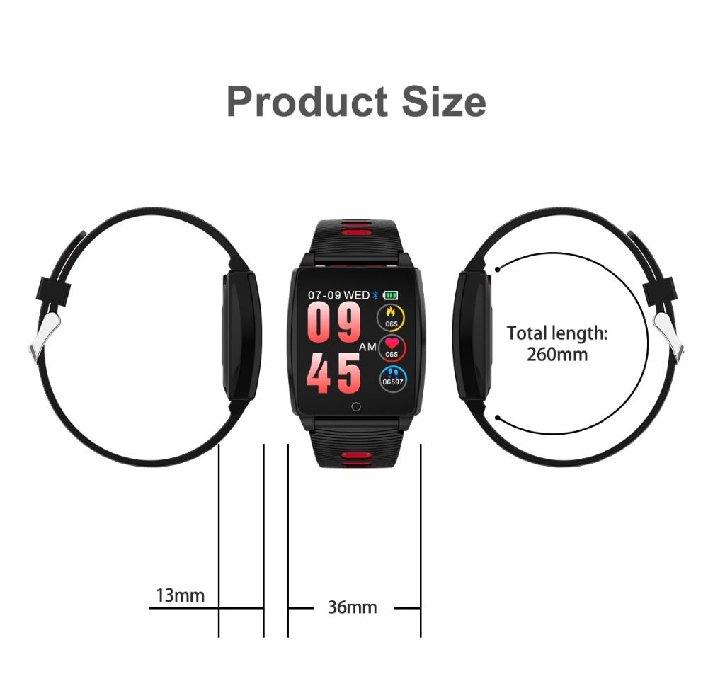 1,3 zoll Big IPS Farbe Bildschirm Sport Armband Smart Uhr Smartband Fitness Armband Schlaf Monitor Fitness Tracker Waterdicht