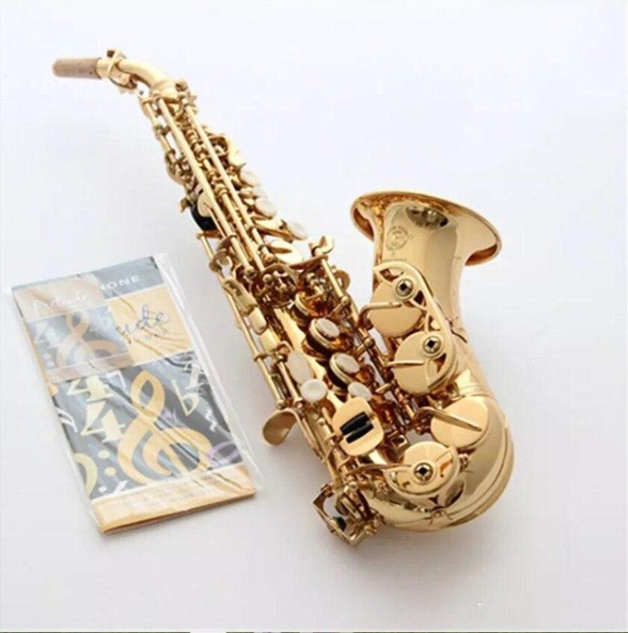 Di alta Qualità France Selmer Sassofono strumento 54Bb per bambini di età Sassofono soprano Sax inclinato piccolo curva di modulazione