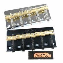 Puente de Bajo Eléctrico de 5 cuerdas WBBC5 con monturas de latón para bajos de Jazz de precisión cromado negro plateado