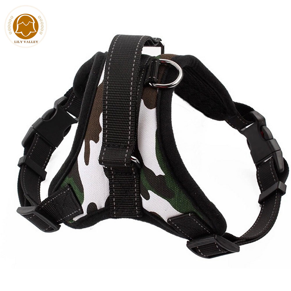 PawsCouture Dog Harness Camoflage Soft Breathable Mesh Vest Adjustable Harness