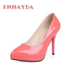 ENMAYDA 8 Colors Hot Fashion High-heeled Shoes Women's Pumps Pointed Toe Thin Heel Sweet Women Shoes Sexy Beautiful Single Shoes