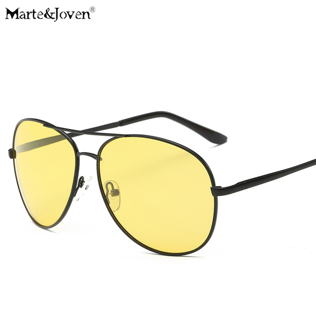 73ac522f64  Marte Joven  Classic Men s Polarized Day And Night Anit-Glare Glasses  Pilot Yellow Lens Driving Night Vision Sunglasses Male