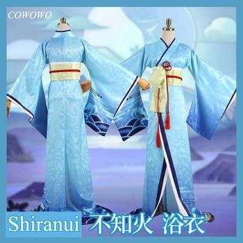 Anime! Game Onmyoji SSR Shiranui Diver Ali Kimono Blue Bathrobe Ancient Dress Uniform Cosplay Costume Halloween Outfit Free Ship