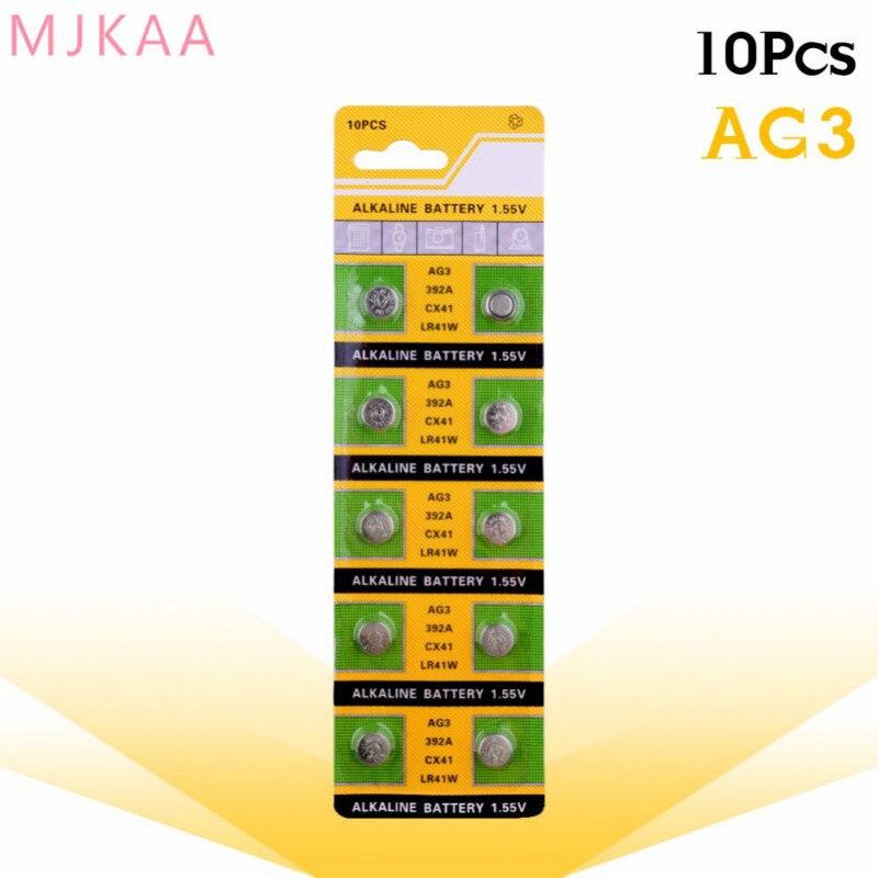 10pcs/pack AG3 For Watch Toys Remote SR41 192 Cell Coin Alkaline Battery 1.55V L736 384 SR41SW CX41 LR41 392 Button Batteries