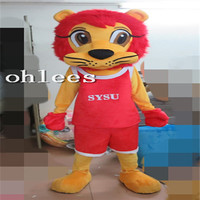 Ohlees athlete lion Mascot Costume Halloween Christmas party Props Costumes For Adult cartoon animal customize