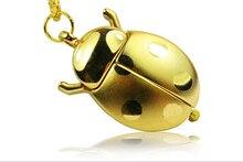 Винтаж золото Цвет Beetle открыть крылья божья коровка кварцевые животных Подвеска для Для женщин мужские карманные часы подарок часы Цепочки и ожерелья ювелирные изделия
