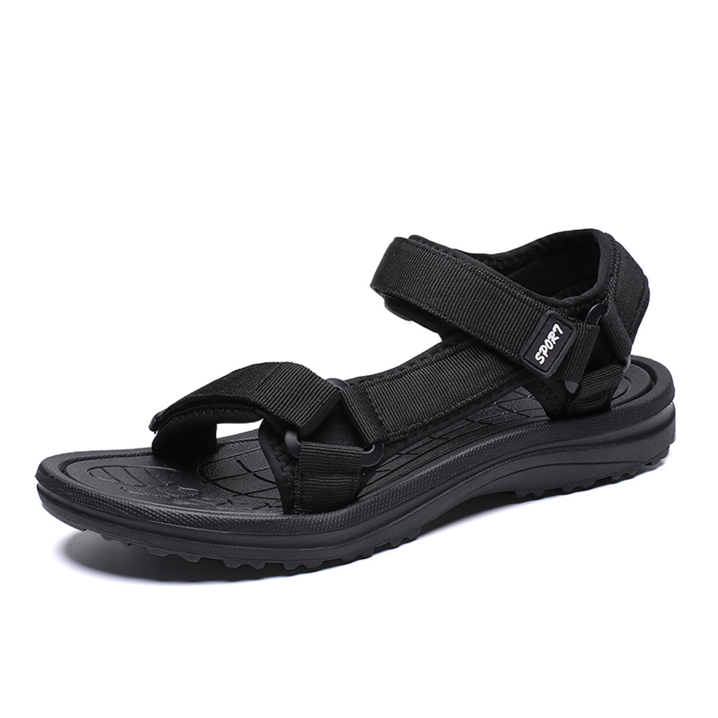 Sandals Flats Athletic-Shoes Outdoor Casual-Style Sport Beach Summer Mens Hook Loop title=