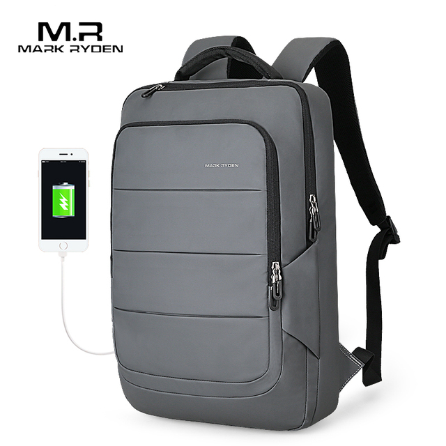 Mark Ryden Man Backpack Fit 15.6 inch Laptop Multifunctional USB Recharging Waterproof Travel Male Bag Anti-thief Mochila