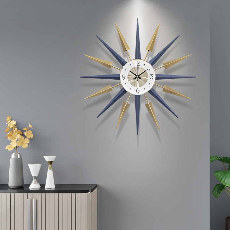 Nordic Creative Wall Clock Modern Design Mute Clock Clock Table Living Room Home Decoration Quartz Clock Big Clock on The Wall