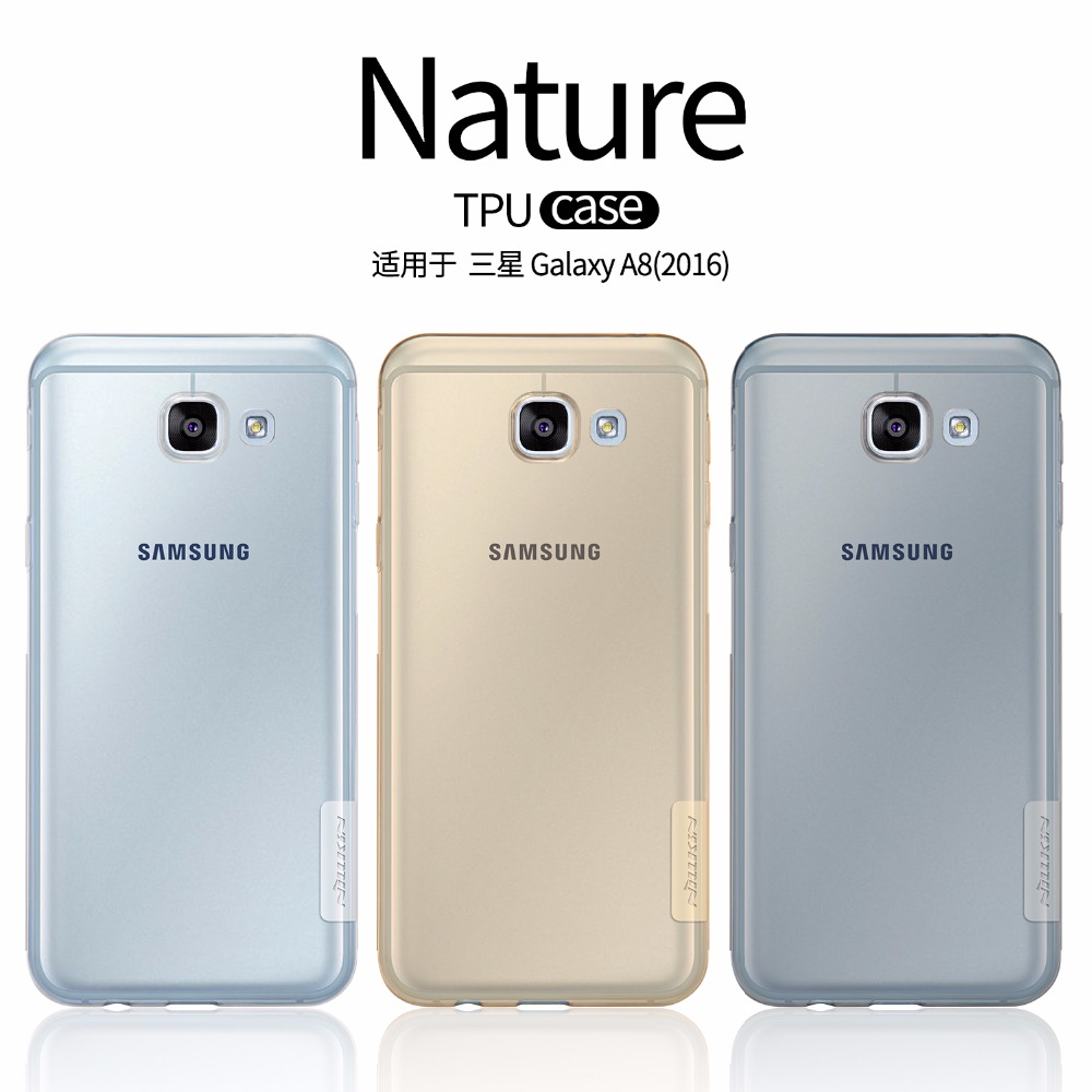 cheap for discount f8107 29b33 US $4.99 5% OFF for Samsung galaxy a8 2016 case cover Nillkin silicone TPU  case for Samsung galaxy a8 2016 Ultra thin Anti skid strips-in Fitted Cases  ...
