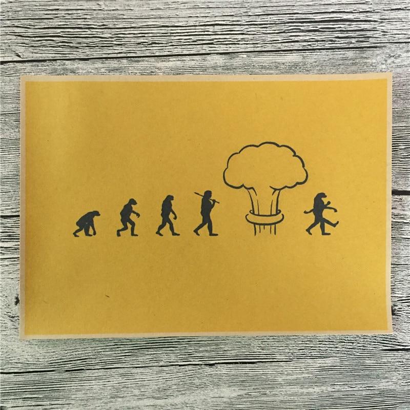 Human history Bomb Vintage Posters Kraft Paper Wall Art Crafts ...