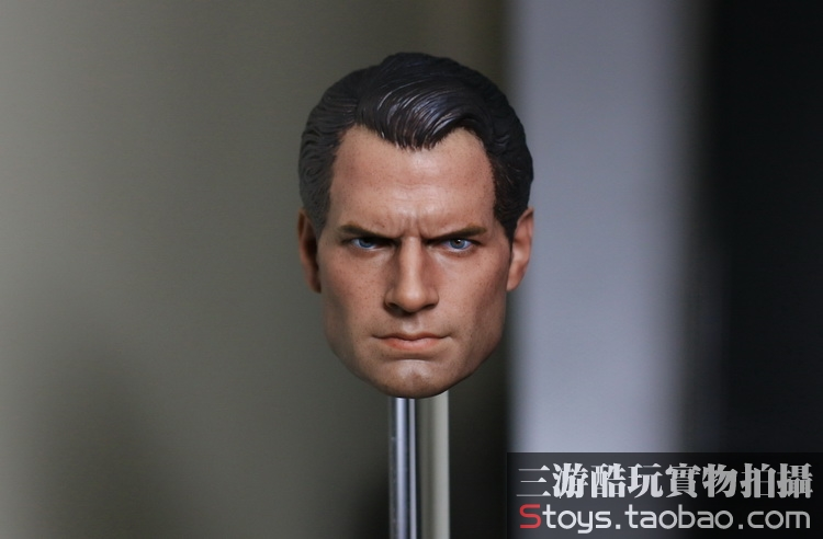 1/6 scale figure doll accessories Dawn of Justice Henry Cavill Superman head shape carved for 12 Action figure doll die shi spot burning the soul of a model burns 1 6 head carved figures are base contains mask