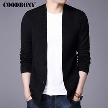 COODRONY Sweater Men 2017 Autumn Winter New Arrival Cardigan Men Cashmere Wool Cardigans Mens Knitted Sweaters Pocket Coats 7403(China)
