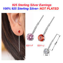 100% 925 Sterling Silver CZ Dangle Earrings Wholesale Vnistar Cunbic Zirconia Drop Earrings for Women Long Earrings(China)