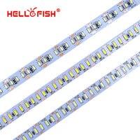 Hello рыбы 5 м 3014 Светодиодные ленты 204 светодио дный DC12V гибкие светодио дный ленты Светодиодные ленты белый/теплый белый