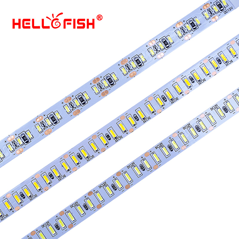 Hello Fish 5M 3014 Bande LED 204 LED DC12V Ruban Flexible LED Bande Lumière de bande LED Blanc / Blanc chaud