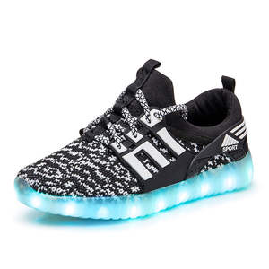 Luminous Sneakers Led Shoes Tennis Boys Kids Children Usb Charging-Light Girls for And