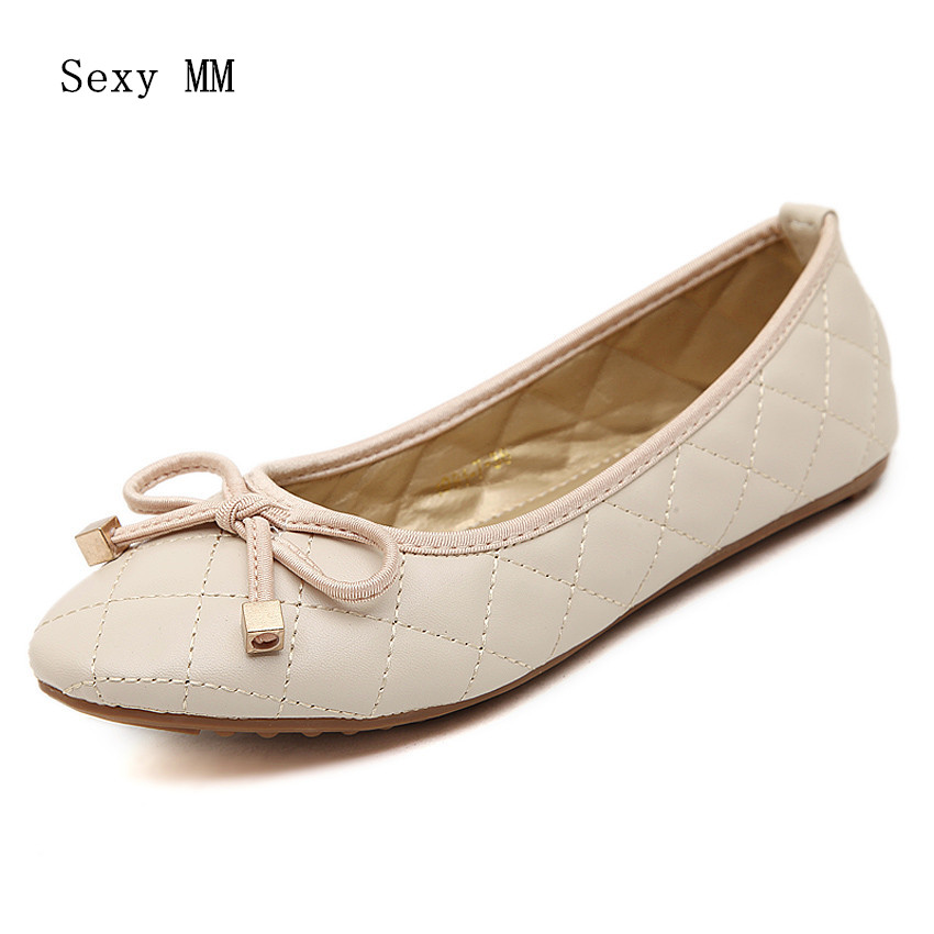 Ballet Flats Women Flat Shoes Fashion Loafers Round Toe Slip-On Shoes Woman Casual Soft Comfortable summer slip ons 45 46 9 women shoes for dancing pointed toe flats ballet ladies loafers soft sole low top gold silver black pink
