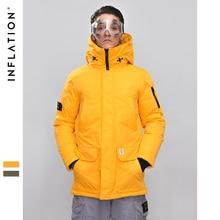 인플레이션 롱 다운 재킷 남자 겨울 코트 패션 겨울 따뜻한 화이트 오리 두꺼운 다운 재킷 후드 겨울 아우터 재킷 8765 w
