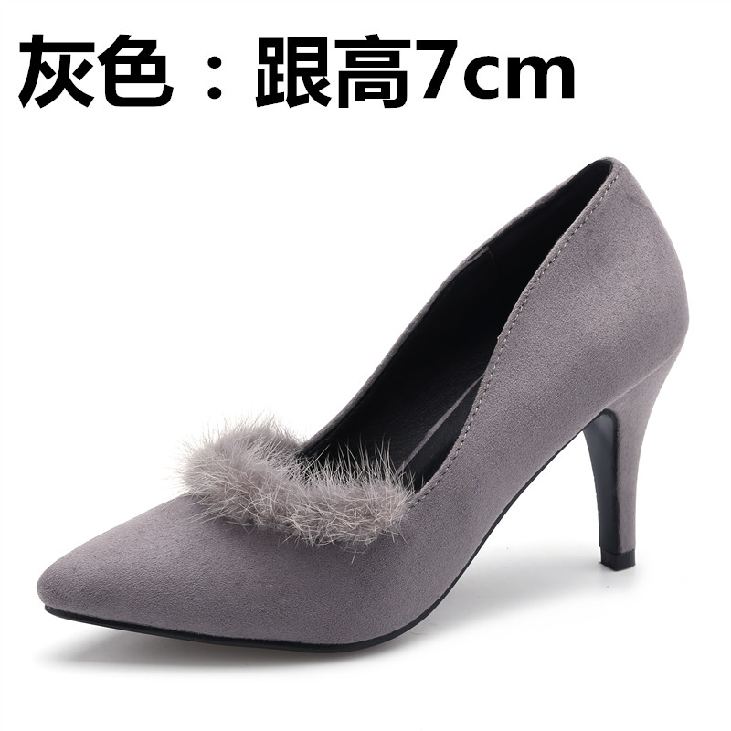ФОТО Spring high-heeled pointed toe single shoes small yards 31 32 33 plus size 40 41 42 43 women's shoes free shipping