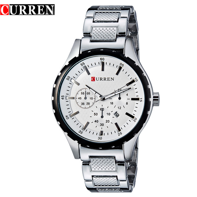 mens vintage pocket watches promotion shop for promotional mens curren 8130 men fashion brand watches stainless steel wristwatches analog quartz man clock hour men s watch