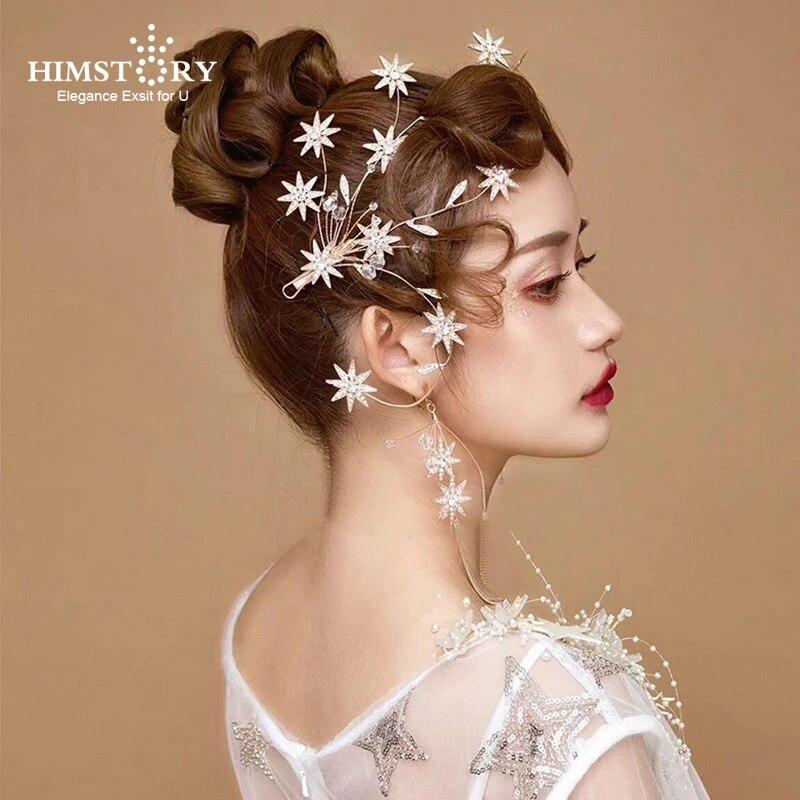 Elegant wedding hair clips Rose gold crystal bridal hairpins Rose gold bridal hair pin