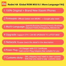 Original Xiaomi Redmi 4A Mobile Phone Snapdragon 425 Quad Core CPU 2GB RAM 16GB ROM 5.0″ 720P 13.0MP 3120mAh Battery MIUI8.1 OS