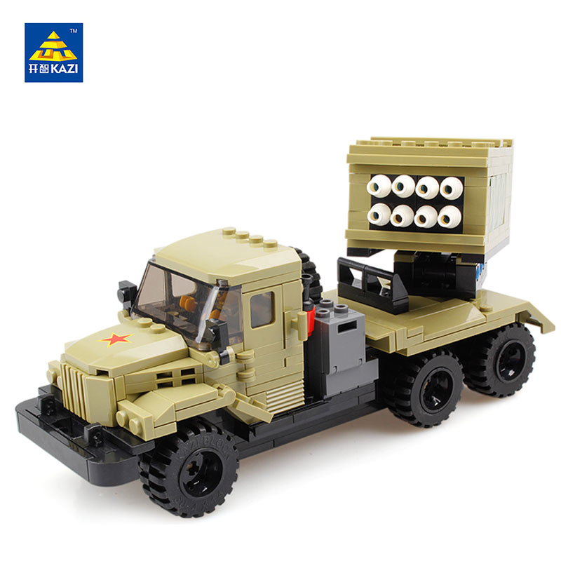 ФОТО KAZI Military series Building blocks 365pcs DIY Missile launch car Bricks Model Compatible all brands Children Educational toy