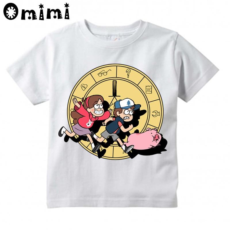 Gravity Fällt Mabel Löffel Design Print T-shirts Für Kinder, Jungen ...