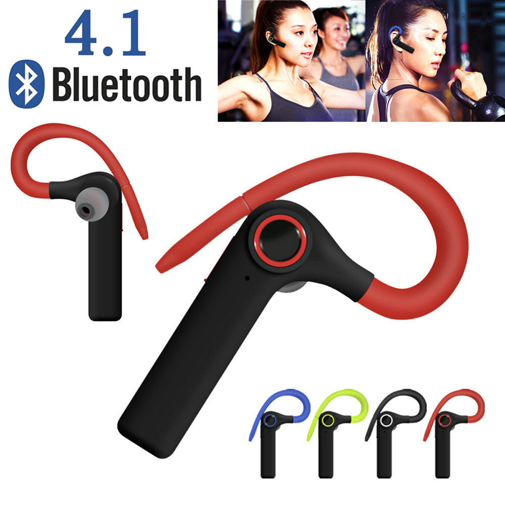 Bluetooth Wireless Headset Ear Hooks HD Stereo Headphones With Mic for iPhone Handfree Phone Call MUsic Driving Sport