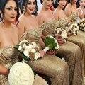 Cheap 2016 Bridesmaid Dresses Gold Bridesmaid Dress Off Shoulder Mermaid Bridesmaid Gowns Long Vestidos Para Damas De Honor