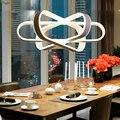 Современные акриловые светодиодные подвесные светильники  алюминиевая столовая светодиодная Подвесная лампа для спальни  подвесные свети...