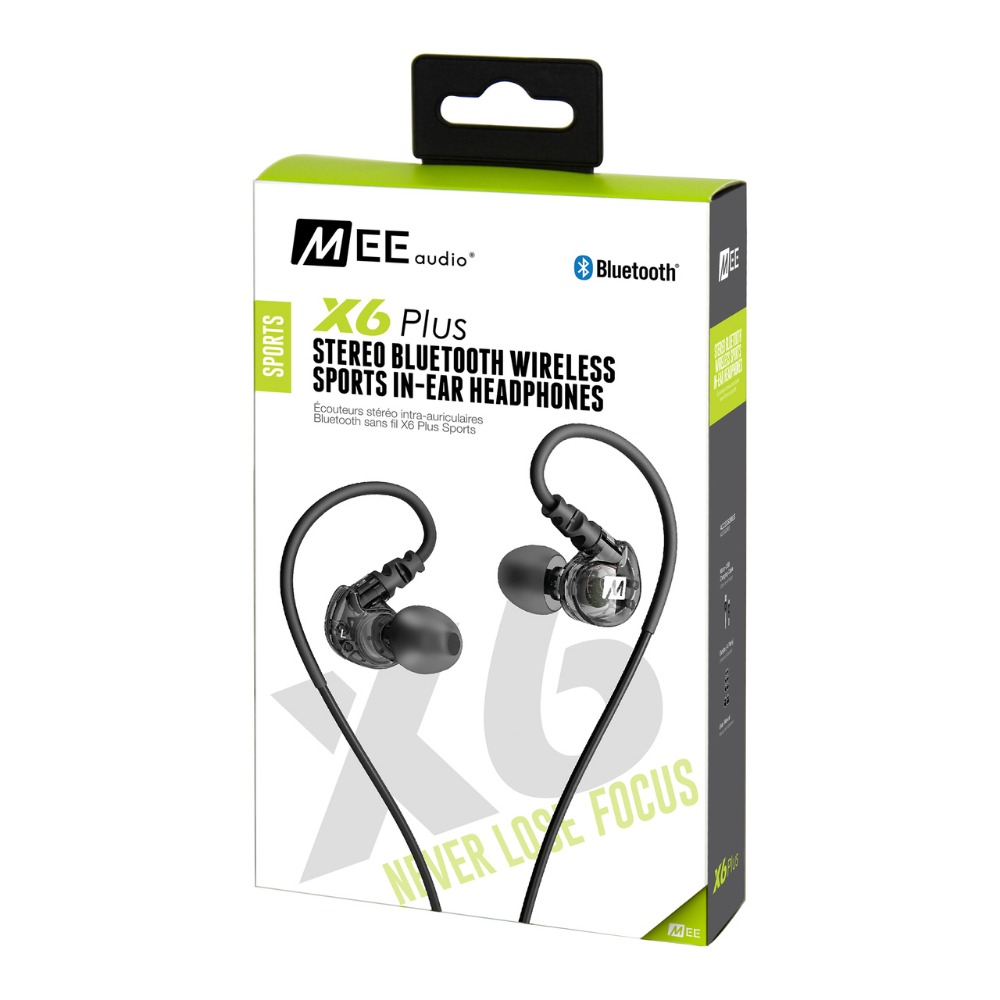 ФОТО 24 hours ship MEE Audio X6 PLUS STEREO BLUETOOTH WIRELESS SPORTS Ear-Hook HEADPHONES earphones with Retail box pk pb2.0 wireless