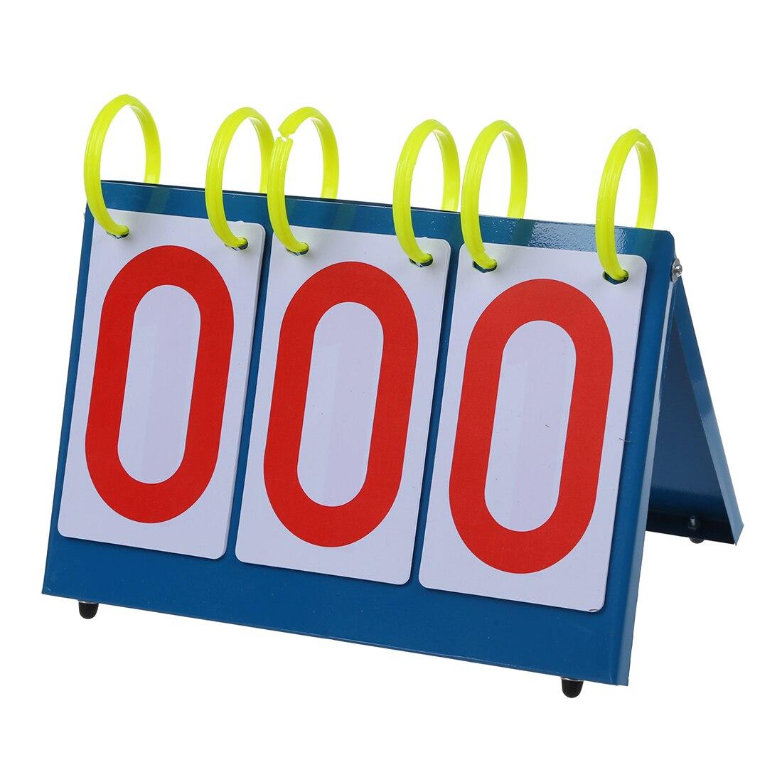 Multi-Purpose Sports Three Digit Flip Scoreboard for Knowledge Contest.