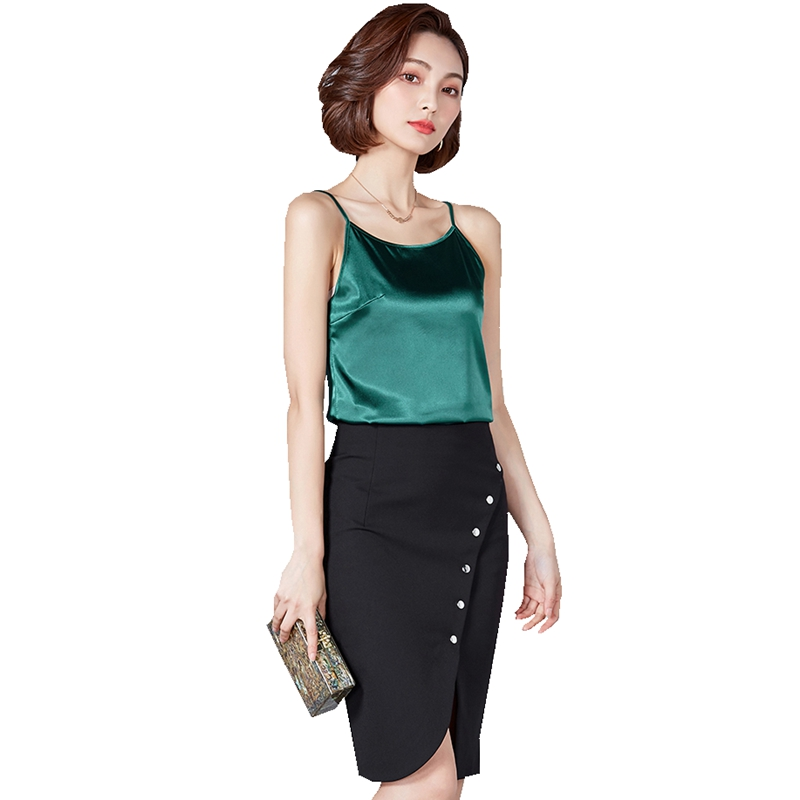 New Women Spring Summer Camis tank tops Sleeveless solid color office lady casual Classic Basic style vest Multi color