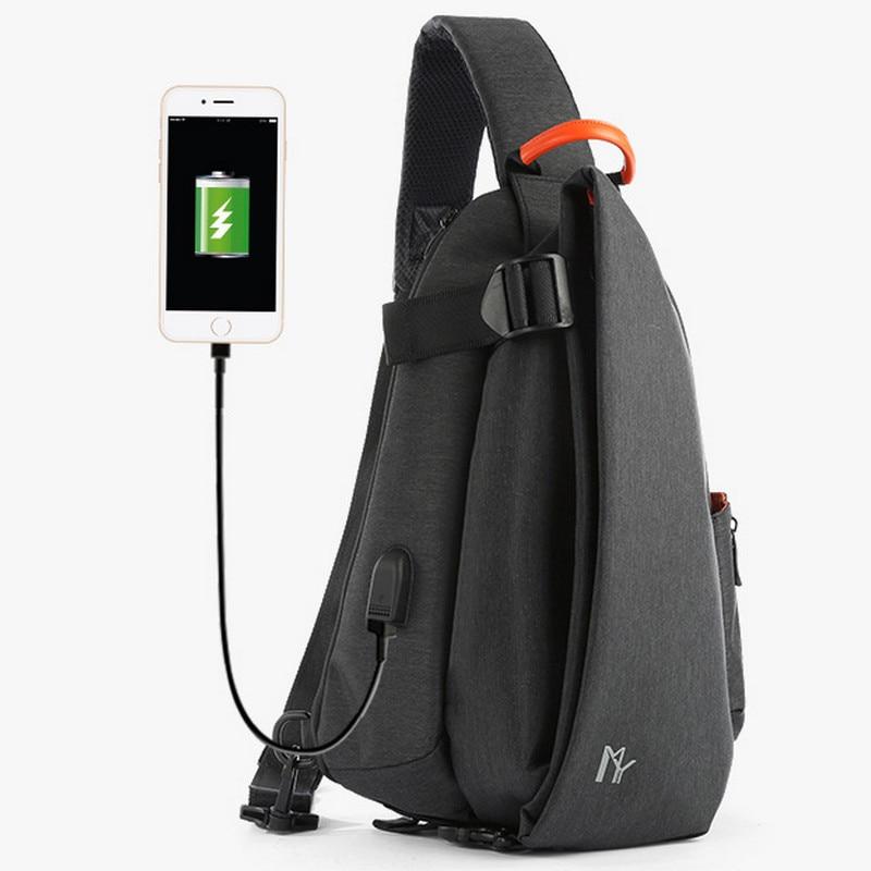 Ygdb Brand Mens Crossbody Bags Casual Oxford Sling Small Flap Handbag Solid Shoulder Bag Male Waterproof Mini Messenger Bag M608