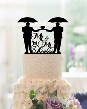 Mr & Mr Acrylic Wedding Decoration Custom Cake Toppers Anniversary Party Decoration Mariage Cake Toppers Funny Personalized