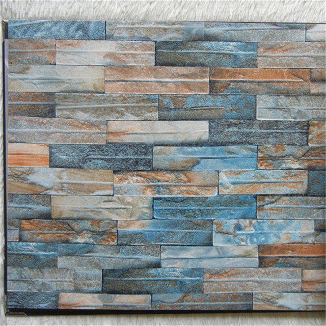 3D Brick Wallpaper Colorful Marble Wall Paper Red Blue Decor Gray Stone Home Mural